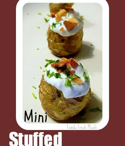 Mini Stuffed Potatoes on a plate