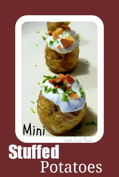 Mini Stuffed Potatoes on a plate