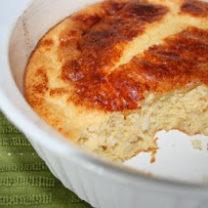 Puffed Cheddar Rice Casserole
