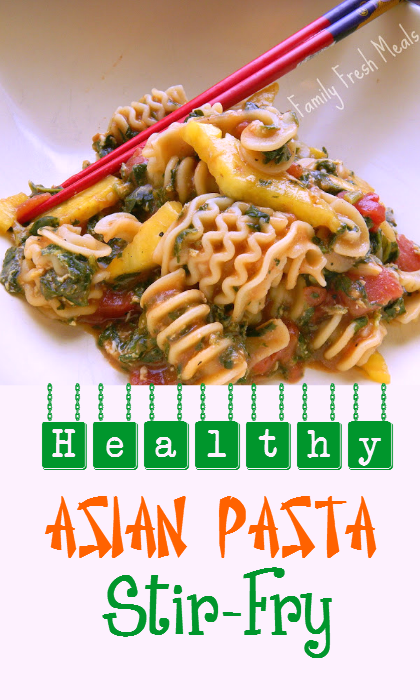 Healthy Asian Pasta Stir-Fry - FamiyFreshMeals.com