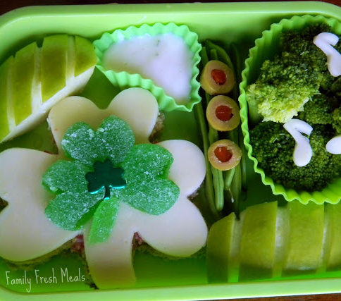 Top down picture of Irish Bento Lunchbox