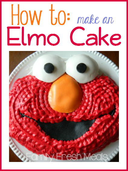 Elmo Nd Birthday Cake