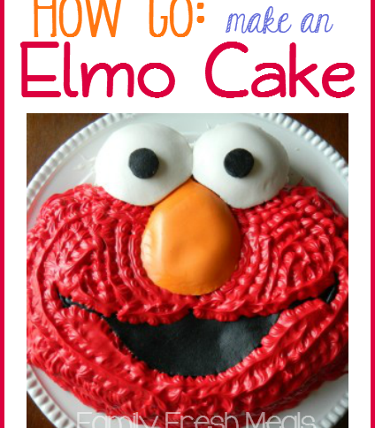 How to make an Elmo Cake - Family Fresh Meals