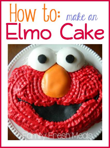 How to make an Elmo Cake - Family Fresh Meals