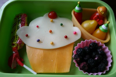 top down photo of the Cupcake Surprise lunchbox