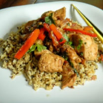 Thai Garlic & Basil Chicken – optional vegetarian version included
