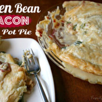 Cheesy Green Bean & Bacon Pot Pie (with vegetarian option)
