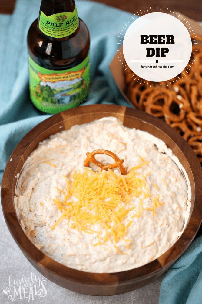 Beer Dip - Easy Party Dip Appetizer - FamilyFreshMeals.com