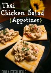 Thai Chicken Salad Appetizer w/ vegetarian option (Pillsbury)