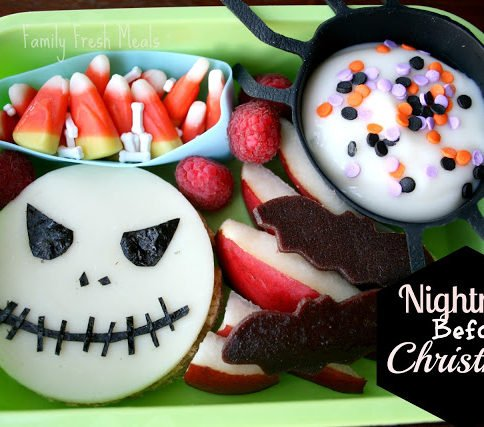 Top down picture of Bento Love: Nightmare Before Christmas Lunchbox