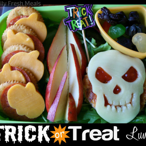 Top down photo of Trick or Treat Halloween Lunchbox