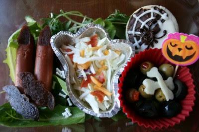 Top down photo of Gruesome Grub Halloween Lunchbox