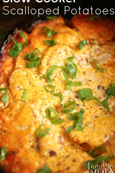 Slow Cooker Scalloped Potatoes - FamilyFreshMeals.com