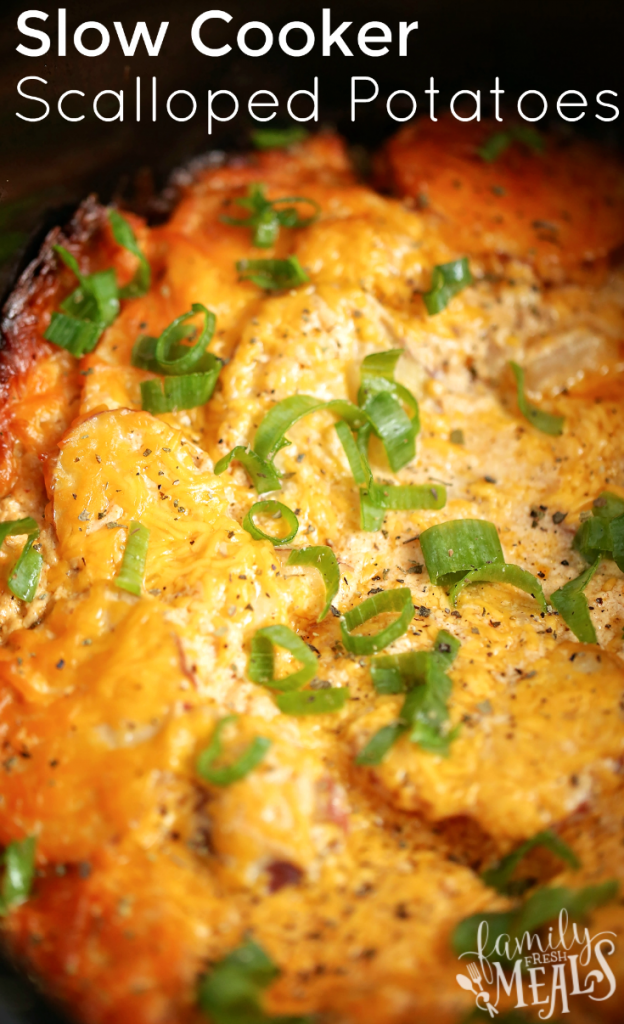 Slow Cooker Scalloped Potatoes - FamilyFreshMeals.com