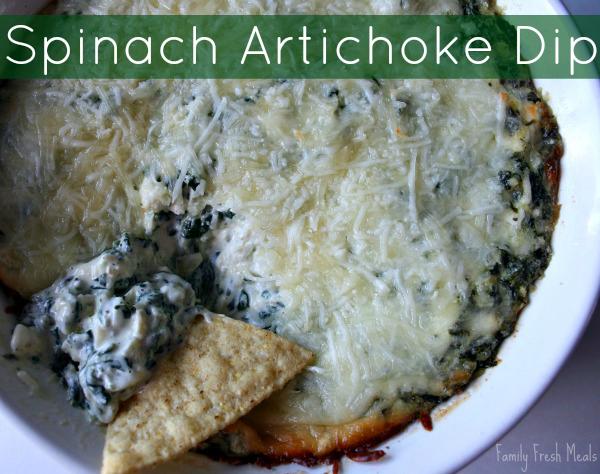 Spinach Artichoke Dip - FamilyFreshMeals.com