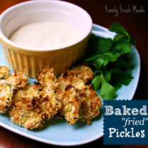 """Baked """"Fried"""" Pickles"""