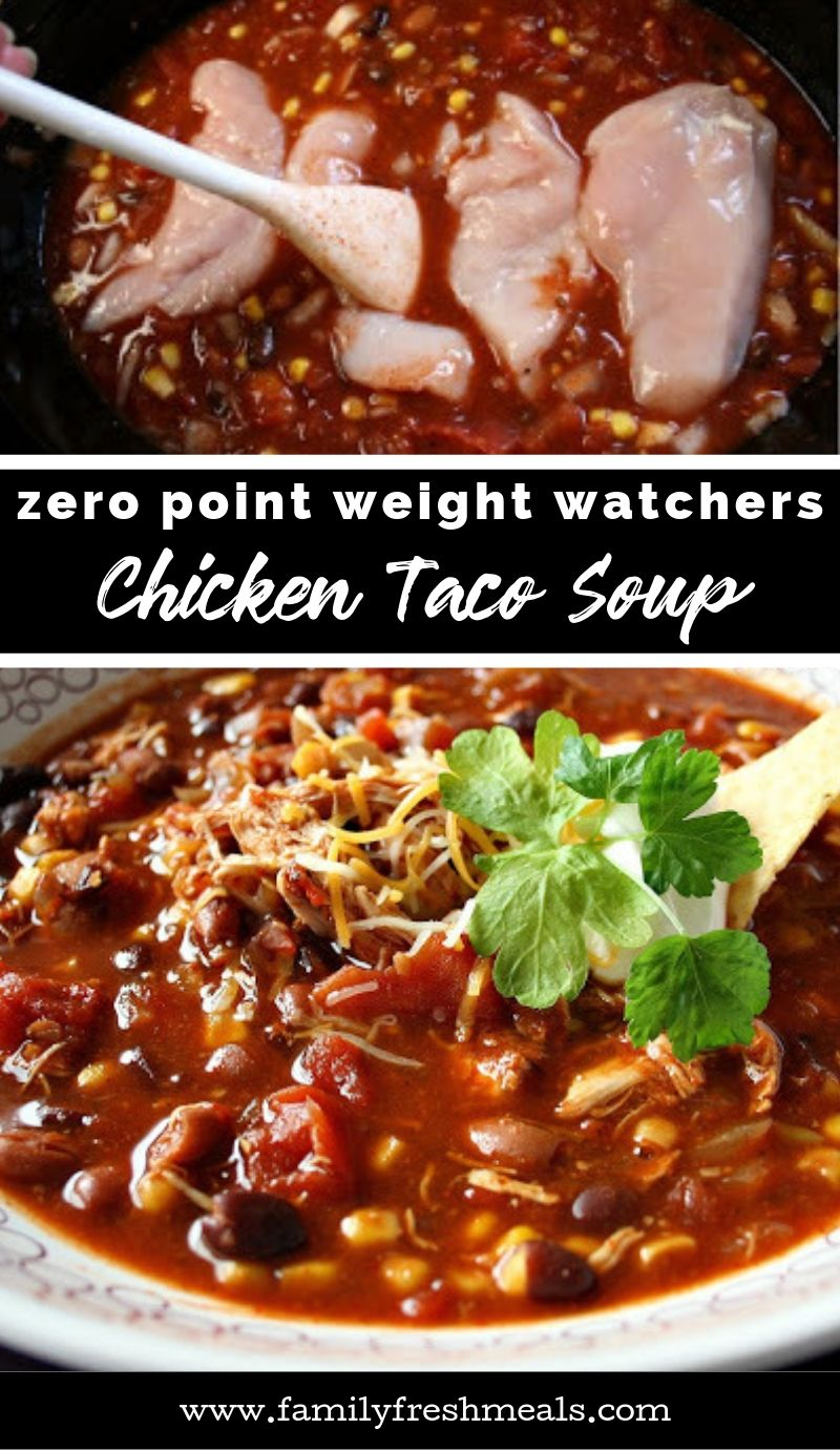 Crockpot Chicken Taco Soup Zero Weight Watchers Points