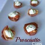 Prosciutto Cups with Cheese & Herb Filling