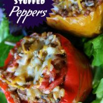 Crockpot Stuffed Bell Peppers (optional vegetarian version)