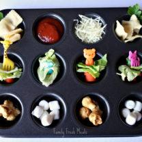 Muffin Meals: Ravioli Dipping Station & Salad Bites