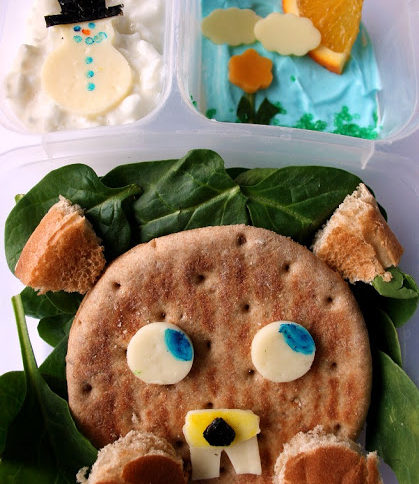 Top down picture of Groundhogs Day Lunchbox