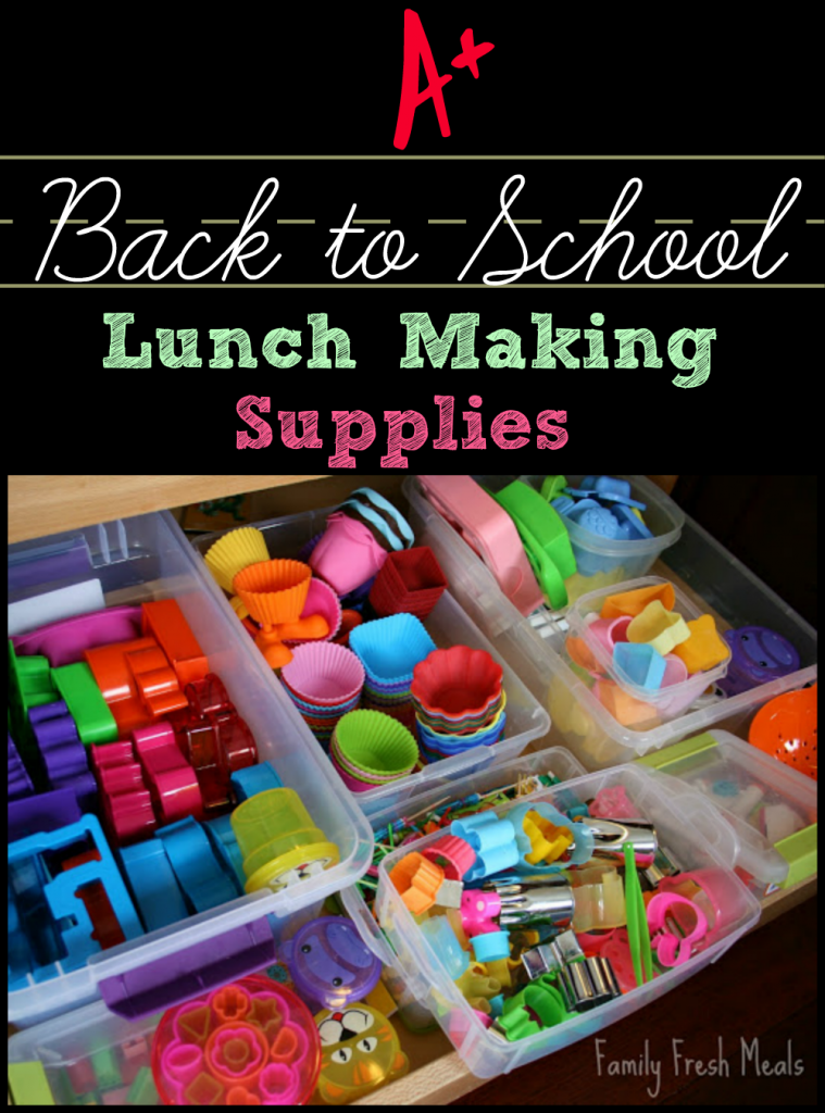 Awesome back to school lunch supplies - Family Fresh Meals