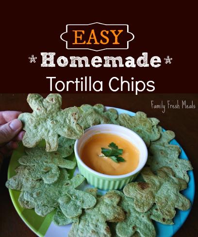 EASY Homemade Tortilla Chips - FamilyFreshMeals.com