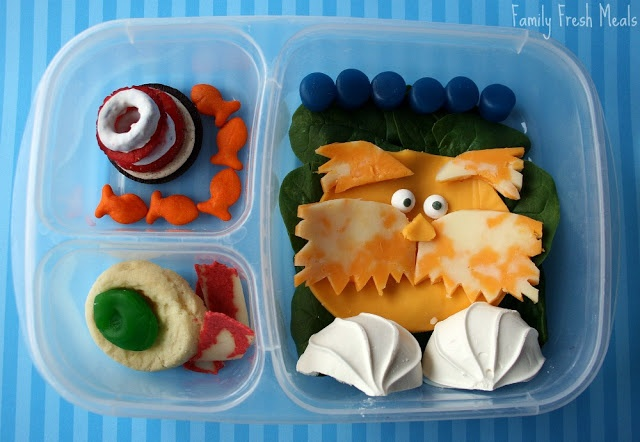 top down image of Dr. Seuss themed lunchbox