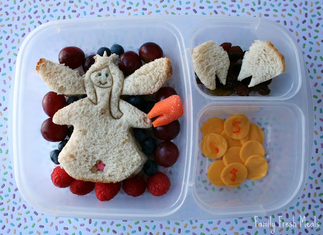 Top down image of a Tooth Fairy Themed lunchbox