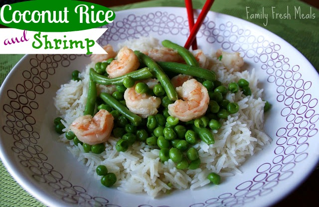 Coconut rice and shrimp