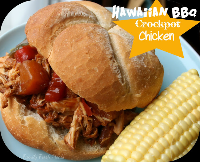 Hawaiian BBQ & Bell Pepper Crockpot Chicken - Family Fresh Meals