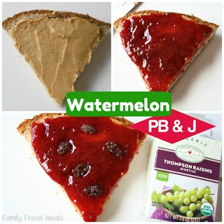 showing the steps to make Watermelon Meal Lunchbox