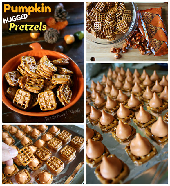 Collage image showing images of steps of how to make Pumpkin Hugged Kisses Recipe