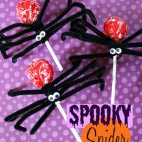 Spooky Halloween Spider Sucker Craft