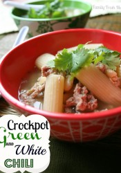Green and White Crockpot Chili