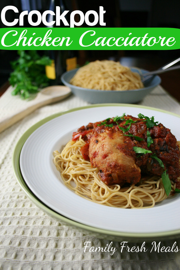 30 Easy Crockpot Recipes - Crockpot Chicken Cacciatore