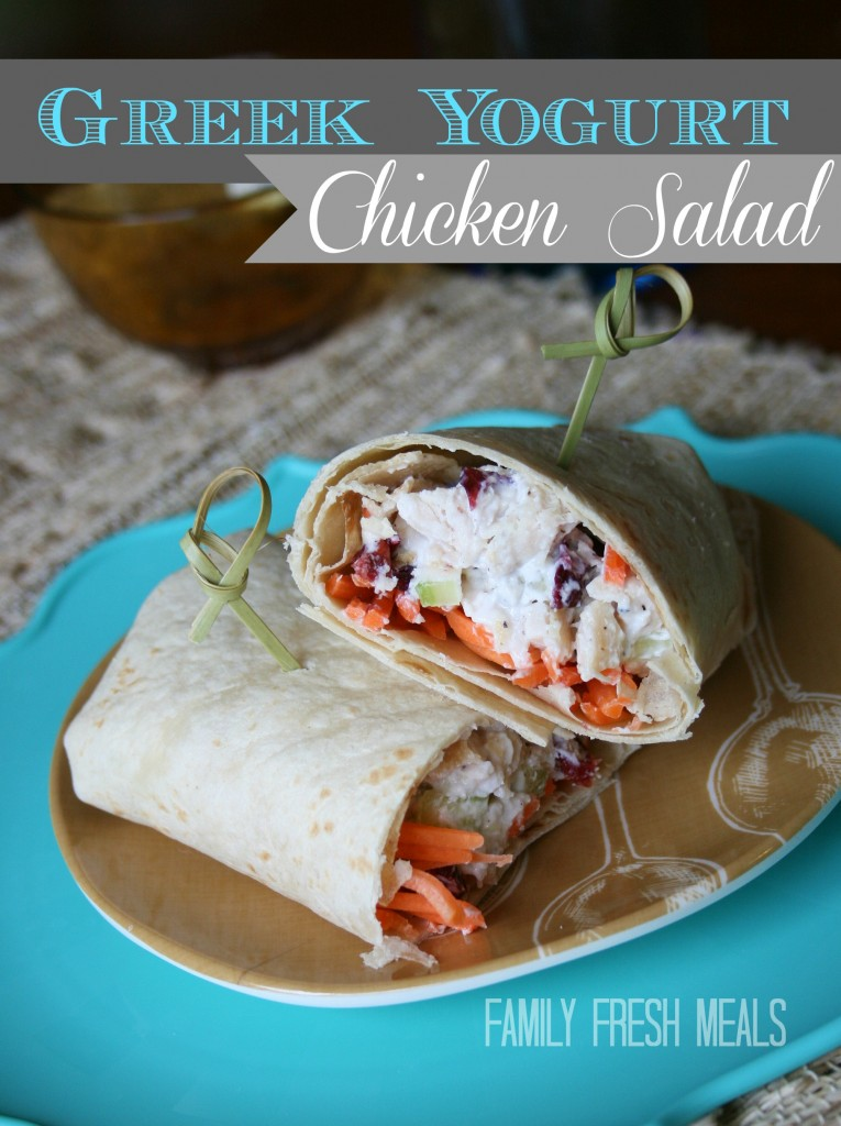 Greek Yogurt Chicken Salad - FamilyFreshMeals.com