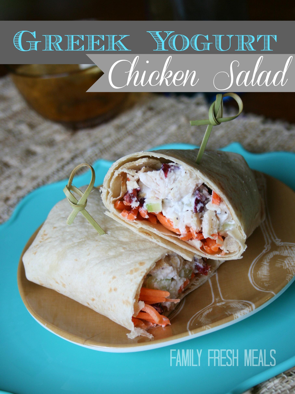 Greek Yogurt Chicken Salad Recipe via @familyfresh