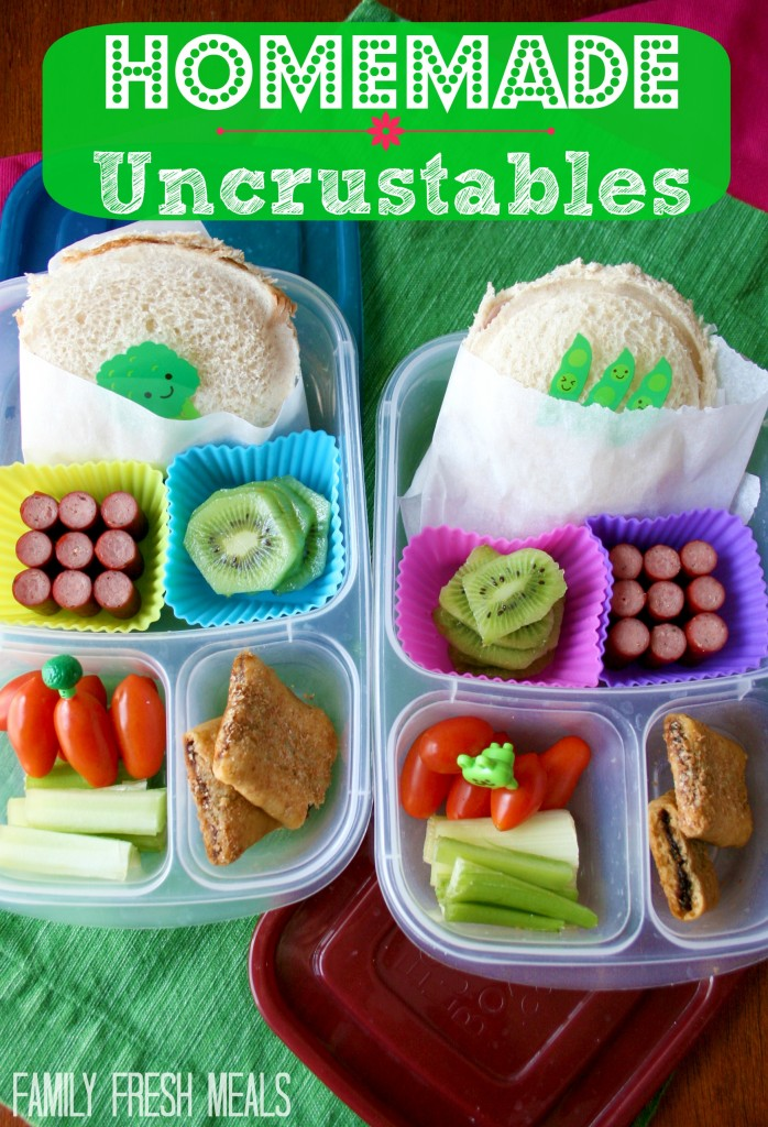 Homemade Uncrustables for Lunch - FamilyFreshMeals.com - Do you want to know how to make your own Homemade Uncrustables for lunch? It's easier than you think! No special tools required to make this back to school treat!