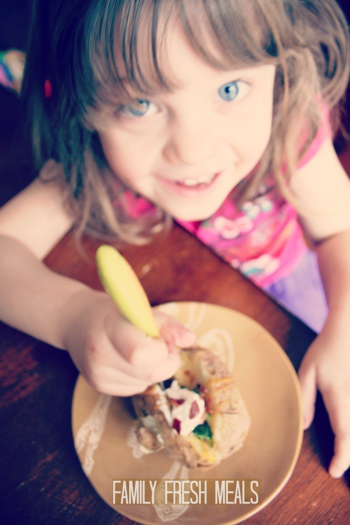 Crockpot Baked Potatoes - FamilyFreshMeals.com