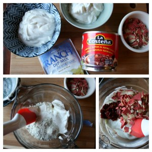Ingredients for Bacon Ranch Dip