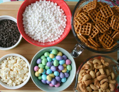 Bunny Bait Ingredients in bowls
