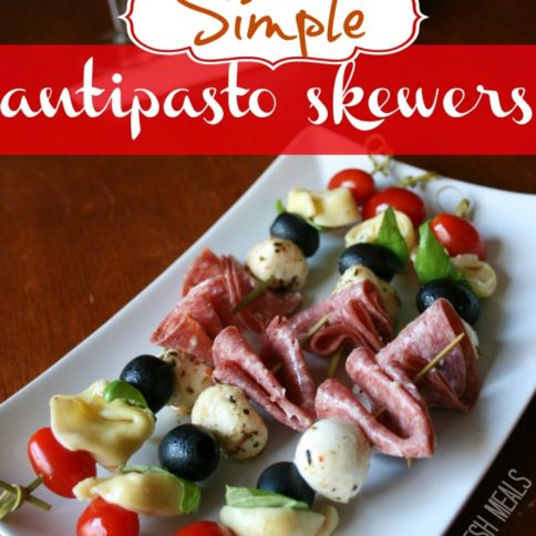 Simple Antipasto Skewers - FamilyFreshMeals.com