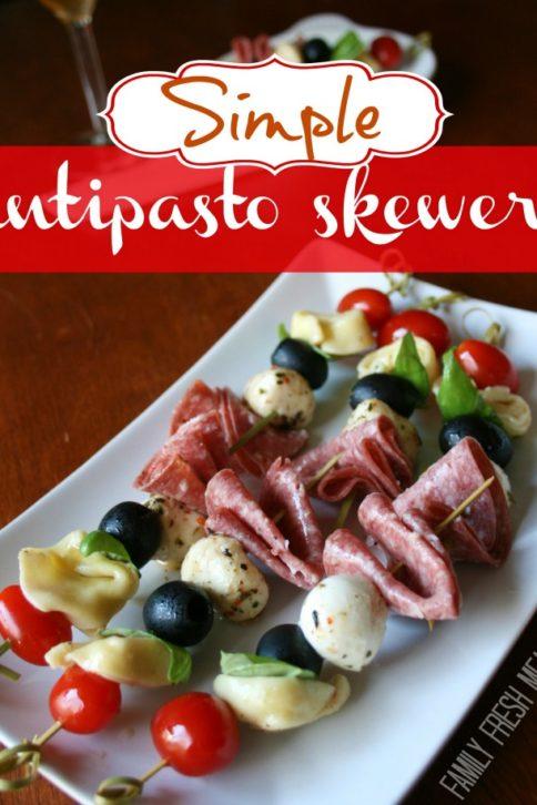 Simple Antipasto Skewers - FamilyFreshMeals.com