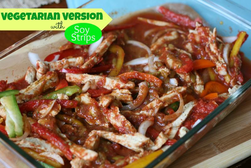 Baked Fajitas - Vegetarian version
