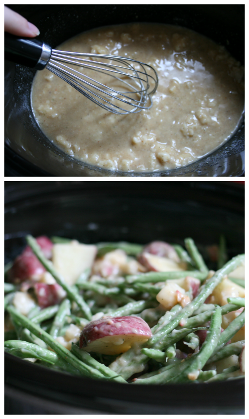 Creamy Crockpot Green Beans, Potatoes & Ham Directions