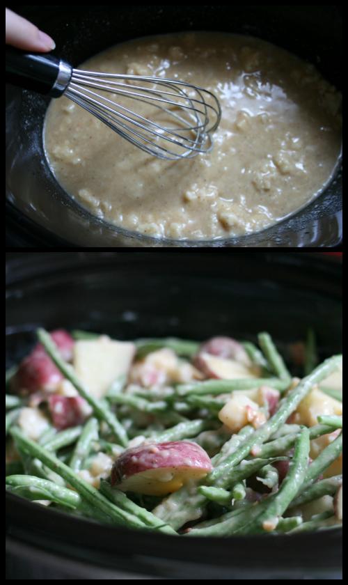 Creamy Crockpot Green Beans, Potatoes & Ham Directions