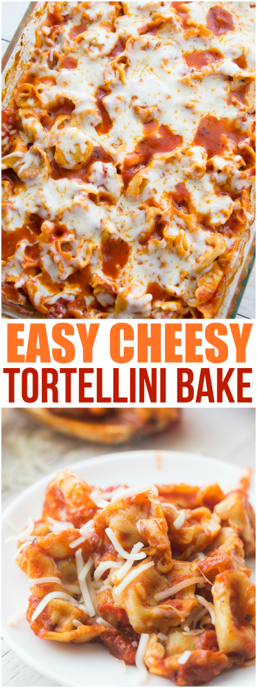 Easy Cheesy Tortellini Pasta Bake via @familyfresh