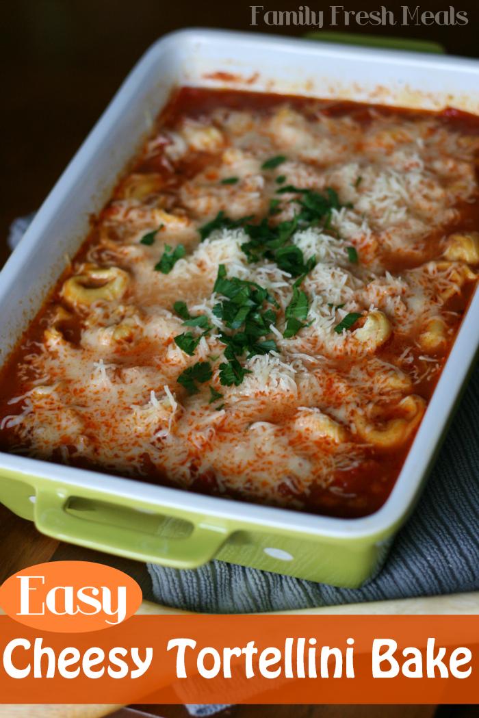 Easy Cheesy Tortellini Bake