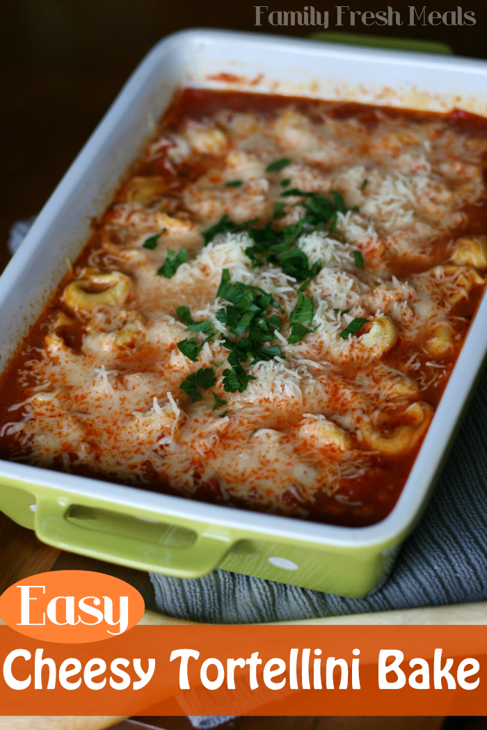 Easy Cheesy Tortellini Bake